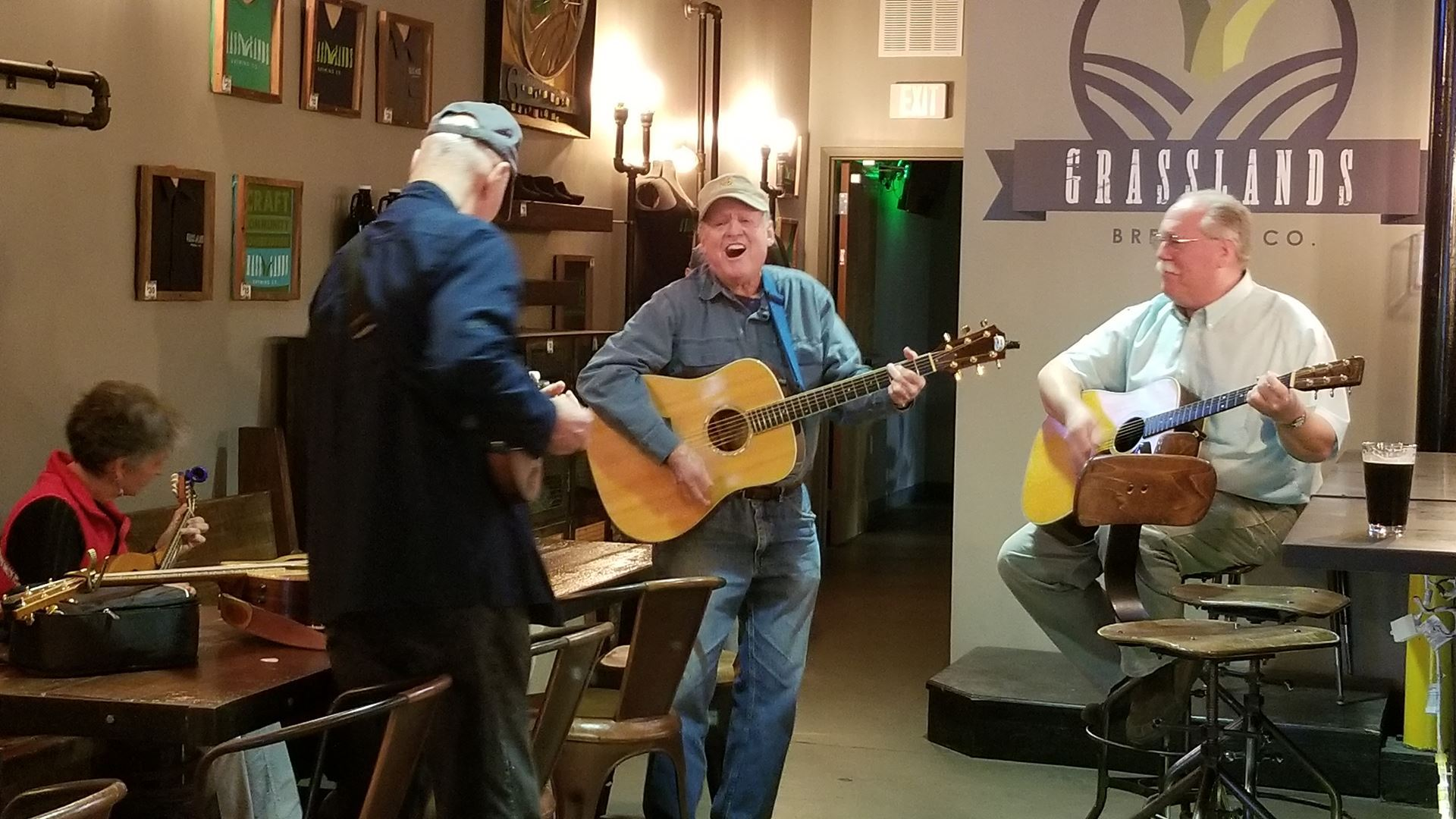 2018 at GrassLand Brewery, Tim Lynch and Stew Parsons